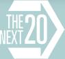 The Next 20 (within an arrow) logo
